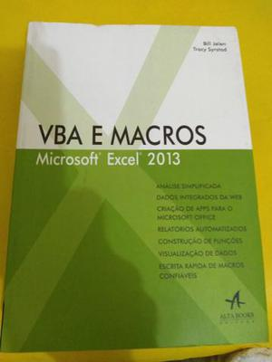 Livro vba e macros - microsoft excel 2013