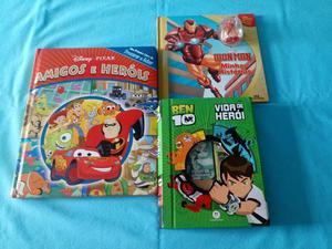 Livros infantis ben 10 + disney + homen de ferro
