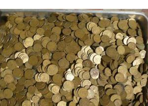 Compro moedas de 2 cruzeiros pago até r$70 cada quilo-sp