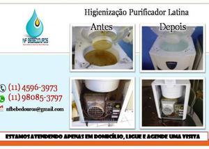 Higienização e manutenção em bebedouros e purificadores