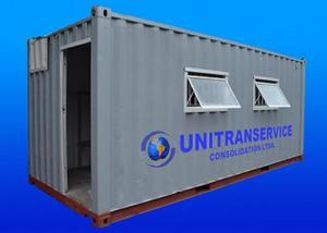 Locação e venda de containers marítimos adaptados para