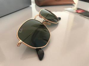 Ray ban hexagonal dourado com lente verde escura - 3548 em Osasco ... 16c64ba9a3
