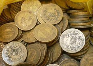 Compra e venda de moedas de 1 cruzeiro bronze r$40 o quilo