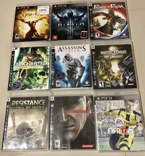 Kit de jogos originais ps3 (nove jogos!)