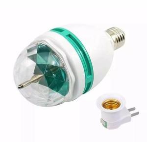 Lâmpada de led luz colorida rotativa