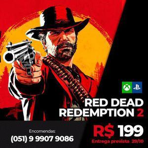 Red dead redemption 2 para xbox one e ps4 mídia física