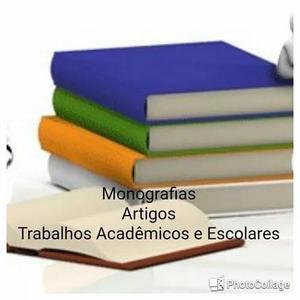 Artigos científicos. monografia.trabalhos acadêmicos