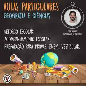 Aulas particulares de geografia, história e filosofia