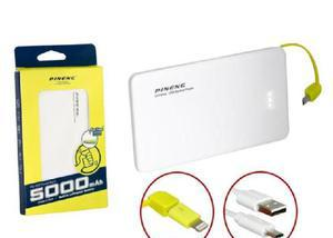 Bateria externa pineng power bank 5000mah slim original pn 9