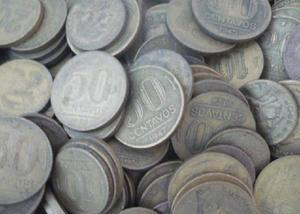 Compro 50 quilos das moedas de 2 cruzeiros pago 1500 na hora