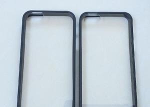 Capa case em siliconetpu preto vidro iphone 5 5s