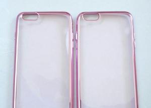 Capa case em siliconetpu transparente rosa iphone 6 (4.7) p