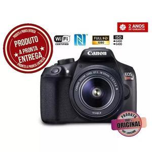 Câmera digital canon eos rebel t6 dslr profiss pronta