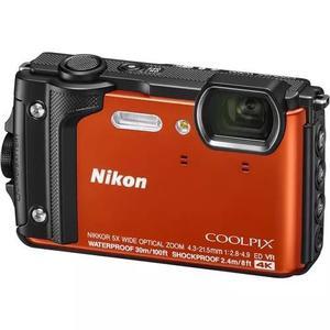Câmera nikon coolpix w300 4k prova dágua laranja 12x