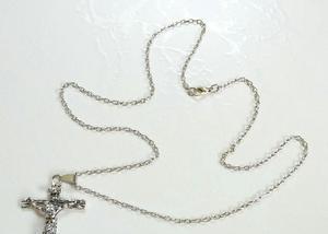 Colar & crucifixo em aço inoxidável 316l
