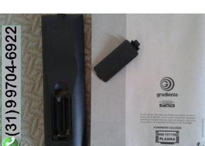 Controle remoto (nunca usado) e manual originais – tv