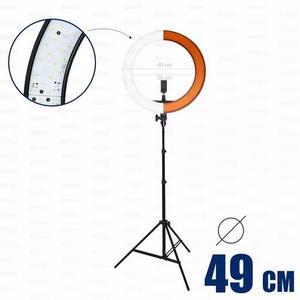 Iluminador circular ring light rl18 greika - completo