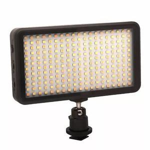 Iluminador led 228 leds + bateria foto video dslr canon w228