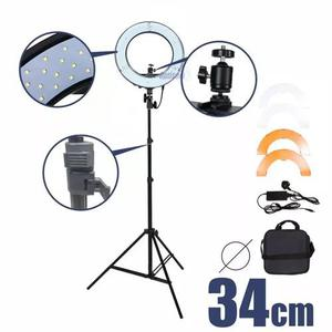 Iluminador led ring light 48 + tripé ideal para maquiadores