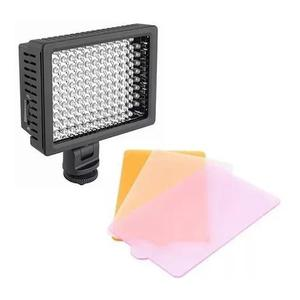 Iluminador profissional led hd 160 foto video filmag