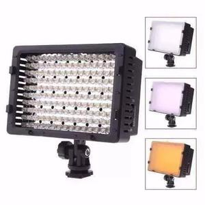 Iluminador w-160 led luminaria luz video camera dslr
