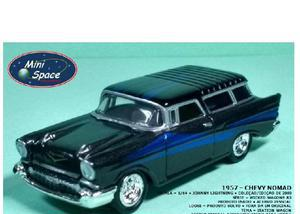 Johnny lightning 1957 chevy nomad preto mini 164 - loose