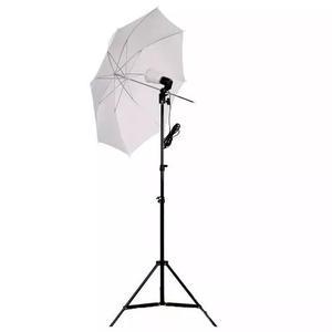 Kit estúdio foto iluminaçao luz contínua e27 sombrinha