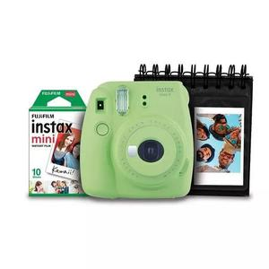 Kit Fujifilm Instax Mini 9 Verde Lima + Porta Fotos + Filme