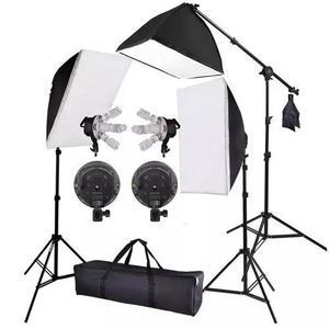 Kit iluminação estudio profissional softbox 70 tripé