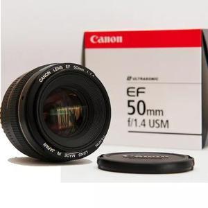 Lente canon ef 50mm f/1.4 usm original c/ garantia canon nfe