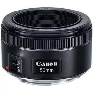 Lente objetiva canon ef 50mm f/1.8 stm +2 protetor da lente