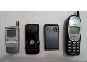 Lote de celulares antigos