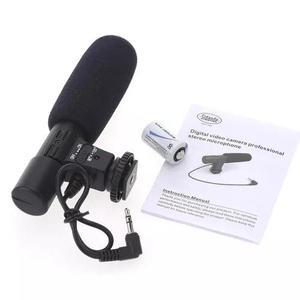 Microfone shotgun dslr direcional camera canon rode nikon