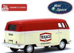 Miniatura greenlight 1975 kombi furgão logo texaco 164