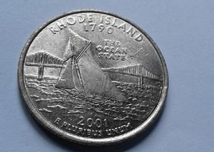 Moeda quarter de dollar 2001
