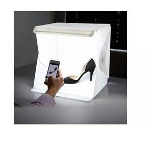 Photo box estúdio com luz led mini studio para artesanato
