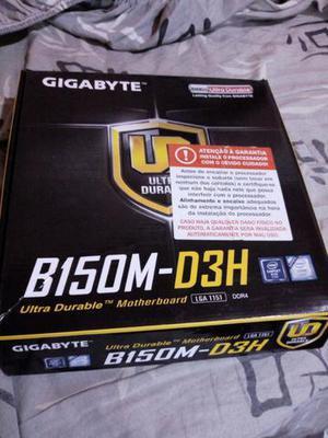Placa mãe gigabyte ga b150m d3h lga 1151