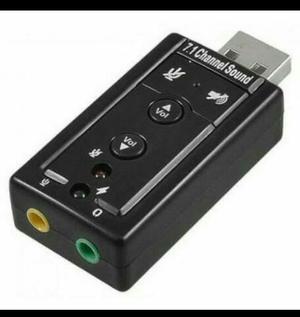 Promoção adaptador placa de som usb 7.1 vitual 3d