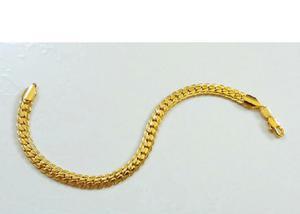 Pulseira masculina 020 banhada ouro 18k