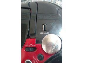 Som portátil com usb,cd formato mp3,cox. p iphone 4s e ipod