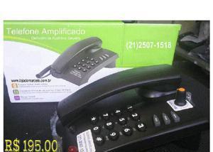 Telefone amplificado para deficientes auditivos