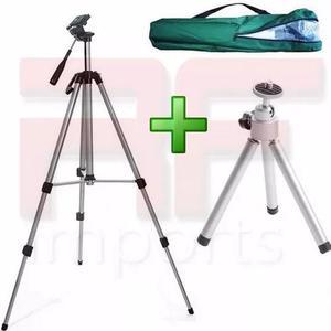 Tripé binóculo profissional canon sony 1,30 m + mini