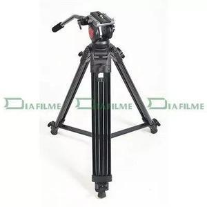 Tripé cabeça fluida câmera vídeo dslr - dvtk-7018 -