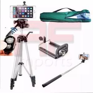 Tripé celular profissional stc-360 gopro 1,80 m + kit