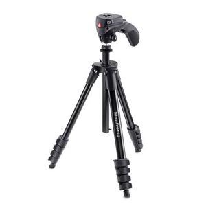 Tripé universal manfrotto compact action black foto ou