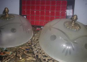 Lustres bronze e luminarias antigas