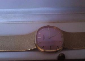85df214e2a3 Relógio patek philippe todo em ouro rosado mostrador salmam