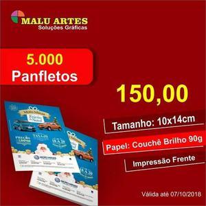 5.000 panfletos 10x14