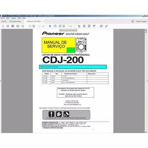 Conserte você mesmo sua cdj 200 com este manual de serviço