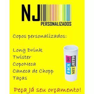 Copos long drink personalizados kit 100 copos
